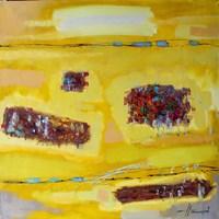 Obraz do salonu artysty Henadzy Havartsou pod tytułem Żółta galaktyka
