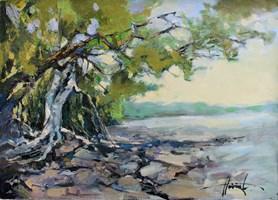 Obraz do salonu artysty Henadzy Havartsou pod tytułem Nad brzegiem morza
