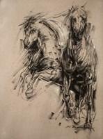 Obraz do salonu artysty Malgorzata Abramowicz pod tytułem Konie 3