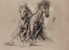 Obraz do salonu artysty Malgorzata Abramowicz pod tytułem Konie 2