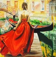 Obraz do salonu artysty Dariusz Żejmo pod tytułem Dziewczyna W Wenecji