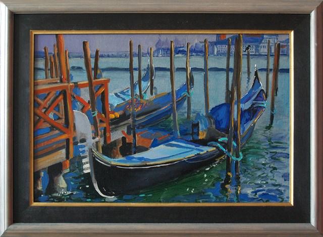 Obraz do salonu artysty Dariusz Żejmo pod tytułem Blue Venice