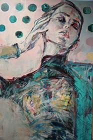Obraz do salonu artysty SYLWIA KALINOWSKA pod tytułem Zielono mi...