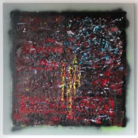 Living room painting by Jerzy  Solecki titled Anexsia 40mg