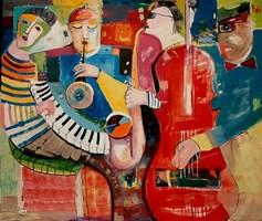 Obraz do salonu artysty Mirosław Nowiński pod tytułem Obraz z cyklu Dźwięki ciszy /Dźwięk ciszy nr 2