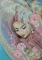 Obraz do salonu artysty Jolanta Frankiewicz pod tytułem Z wizytą