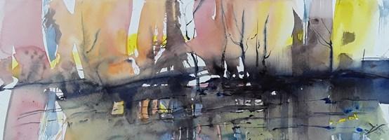 Obraz do salonu artysty Joanna Sołtan pod tytułem Pejzaże wyśnione - widok 29
