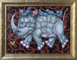 Obraz do salonu artysty Igor Handźian pod tytułem Nosorożec