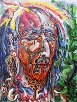 Obraz do salonu artysty Igor Handźian pod tytułem Szaman