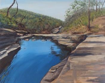 Obraz do salonu artysty Andrew John Stewart pod tytułem Sheoak Falls