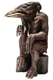 Rzeźba do salonu artysty Marcin Myśliwiec pod tytułem Nielot siedzący II