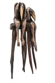 Rzeźba do salonu artysty Marcin Myśliwiec pod tytułem Osobno razem
