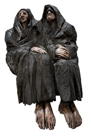 Rzeźba do salonu artysty Marcin Myśliwiec pod tytułem Wdowy