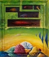 Obraz do salonu artysty Zbigniew Olszewski pod tytułem Aqua kolekcja
