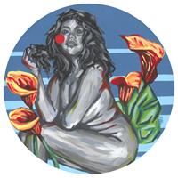 Obraz do salonu artysty Ewelina Czarniecka pod tytułem Tondo z Kallą