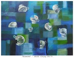 Obraz do salonu artysty Maria Kucia-Albin pod tytułem Rozmowa