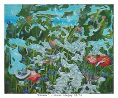 Obraz do salonu artysty Maria Kucia-Albin pod tytułem Wiosna
