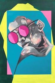 Obraz do salonu artysty Sławomir Danielski pod tytułem Lubię patrzeć jak patrzysz czy patrzę III