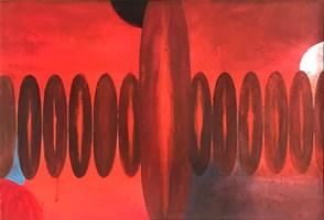 Obraz do salonu artysty Artur Wojtczuk pod tytułem Próby zachowania równowagi ( szkic meksykański )