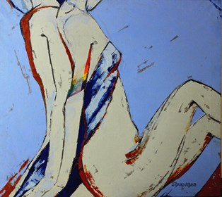 Obraz do salonu artysty Elżbieta Boukourbane pod tytułem HOUSE 2020