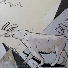 Obraz do salonu artysty Elżbieta Boukourbane pod tytułem WOŁANIE NIEDŹWIEDZIA