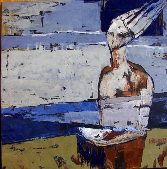Obraz do salonu artysty Elżbieta Boukourbane pod tytułem Przypływ