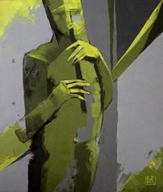 """Obraz do salonu artysty Elżbieta Boukourbane pod tytułem """"JAZZ SESSION III """""""