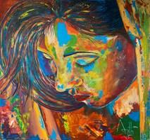 Obraz do salonu artysty Ajith Krishnamoorthy Nair pod tytułem Feeling
