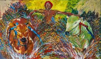 Obraz do salonu artysty Ajith Krishnamoorthy Nair pod tytułem Farmer