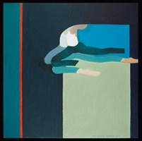 Living room painting by Wanda Badowska-Twarowska titled The Green(1)