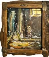 Obraz do salonu artysty Jarosław Trojanowski pod tytułem Dziewczynka z zapałkami