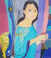 Obraz do salonu artysty Celalettin Kartal pod tytułem Oxygen Girl