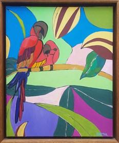 Obraz do salonu artysty Celalettin Kartal pod tytułem Colorfull World