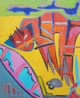 Obraz do salonu artysty Celalettin Kartal pod tytułem Beach cat