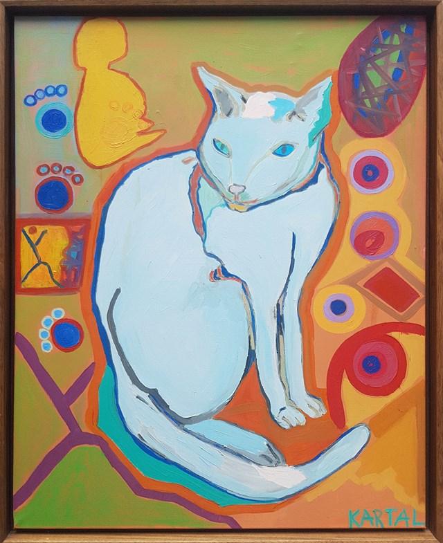 Obraz do salonu artysty Celalettin Kartal pod tytułem Van Cat