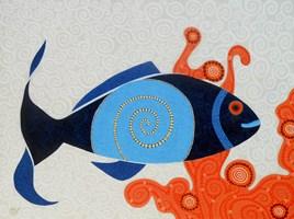 Obraz do salonu artysty Magdalena Tuźnik pod tytułem Opowieści podwodne