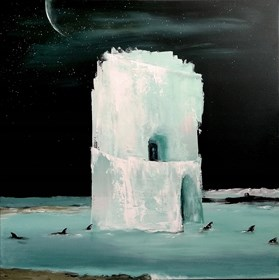 Living room painting by Andrzej Cybura titled ICE HOTEL
