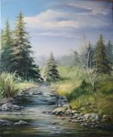 Obraz do salonu artysty Lidia Olbrycht pod tytułem Pejzaż Wiosna