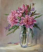 Obraz do salonu artysty Lidia Olbrycht pod tytułem Różowe Piwonie