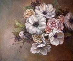Obraz do salonu artysty Lidia Olbrycht pod tytułem Anemony i Róże