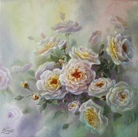 Living room painting by Lidia Olbrycht titled Rose