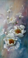 Living room painting by Lidia Olbrycht titled  White Roses Impression