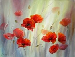 Obraz do salonu artysty Lidia Olbrycht pod tytułem Czerwone Maki